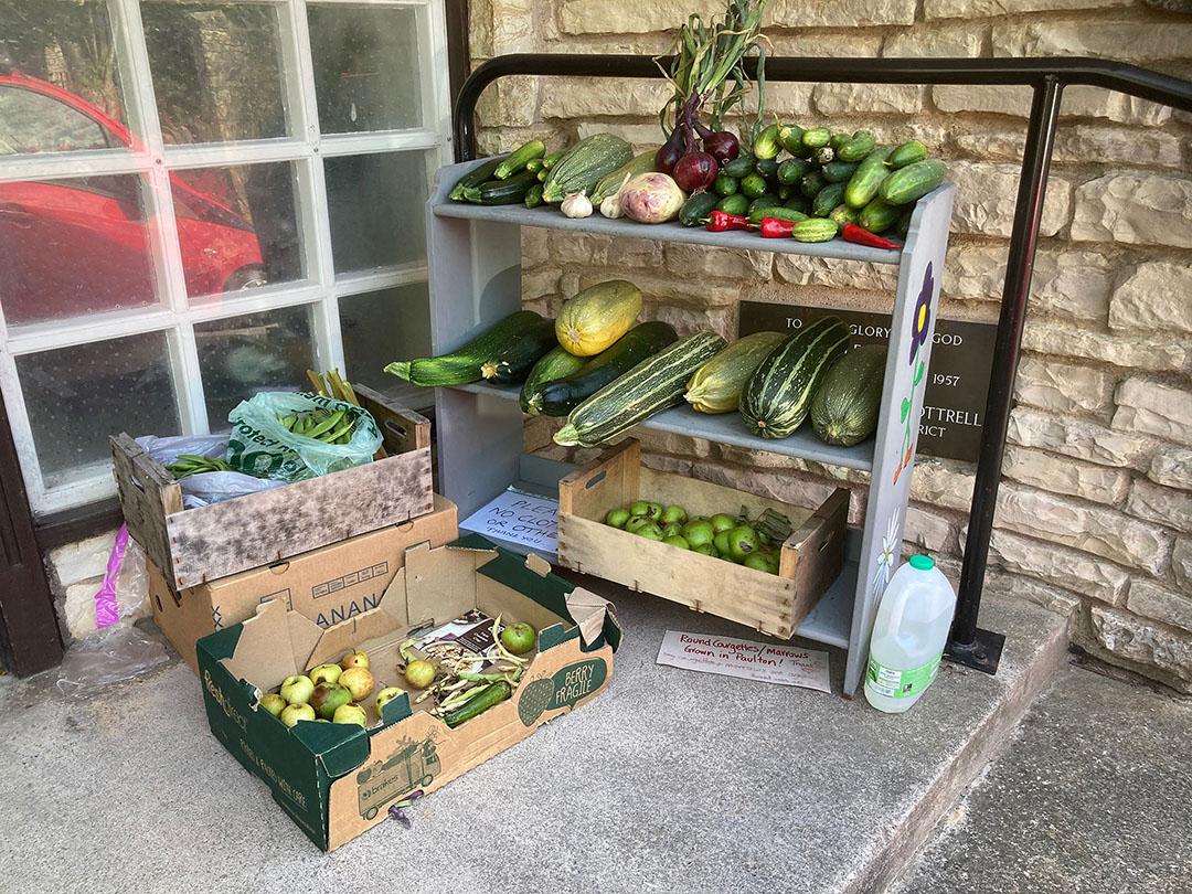 Selection of fresh vegetables at Paulton Village Larder