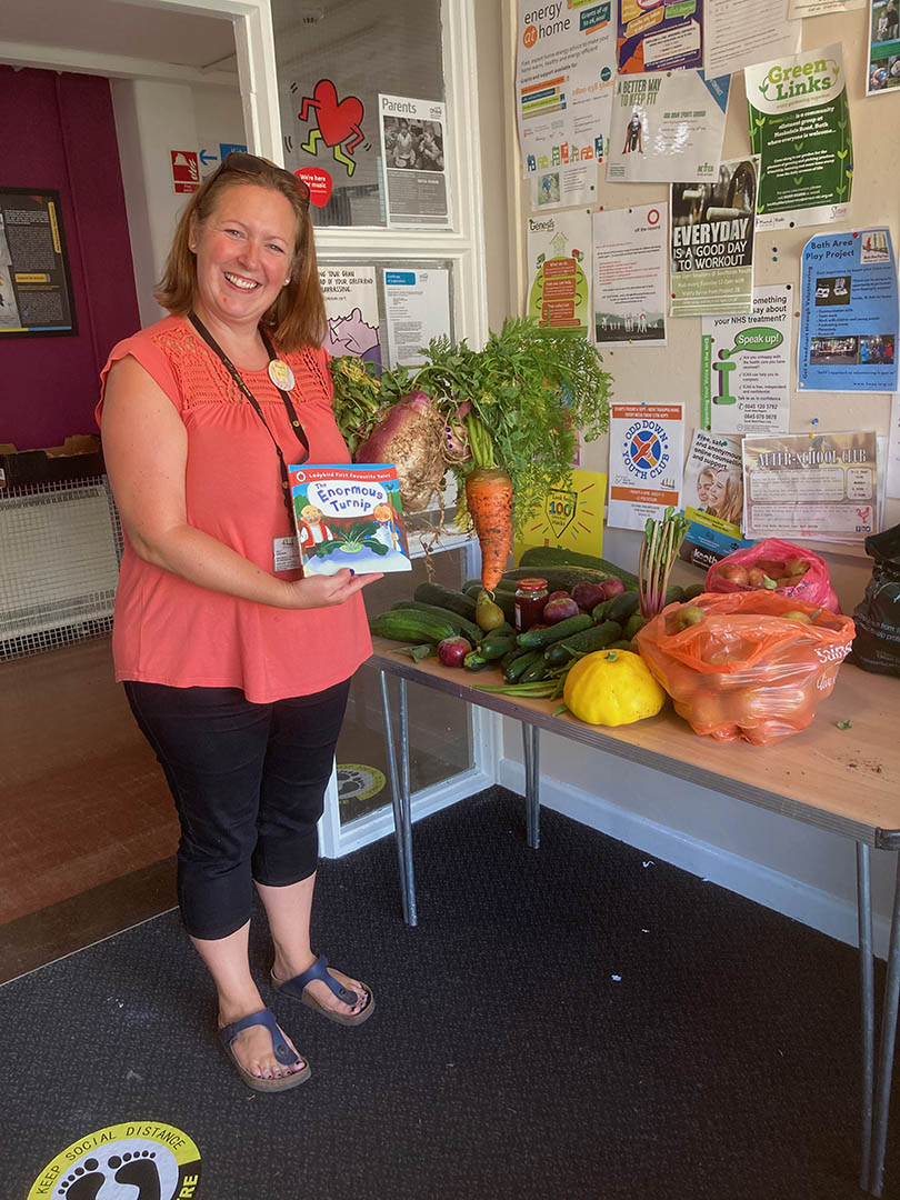 Vegetables being received at Bath Area Play Project