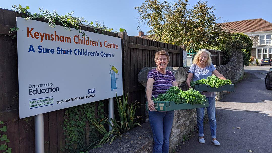 Kale being received at Keynsham Children's Centre