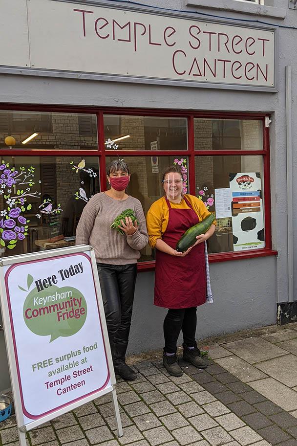 Fresh vegetables being received at Keynsham Community Fridge at Temple Street Canteen