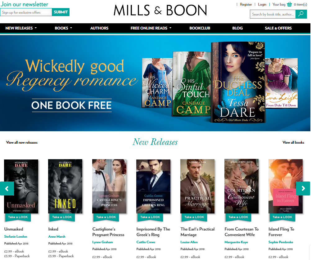 Aussies swoon for Mills & Boon! Supadu launches site with Supafolio 3.