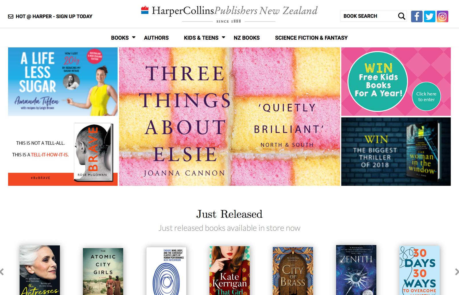 HarperCollins New Zealand launches new site using market leader Supadu