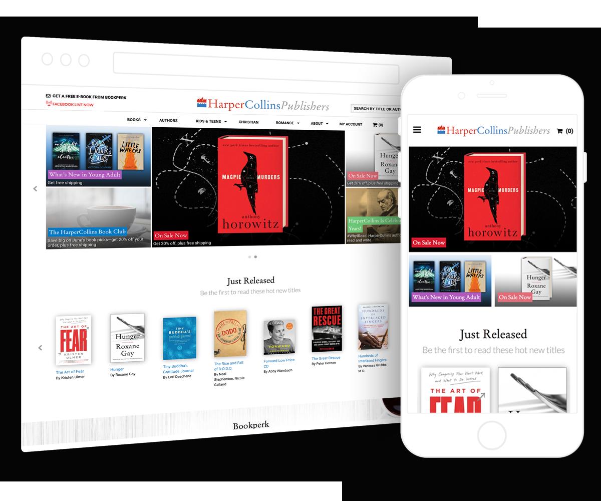 HarperCollins site search