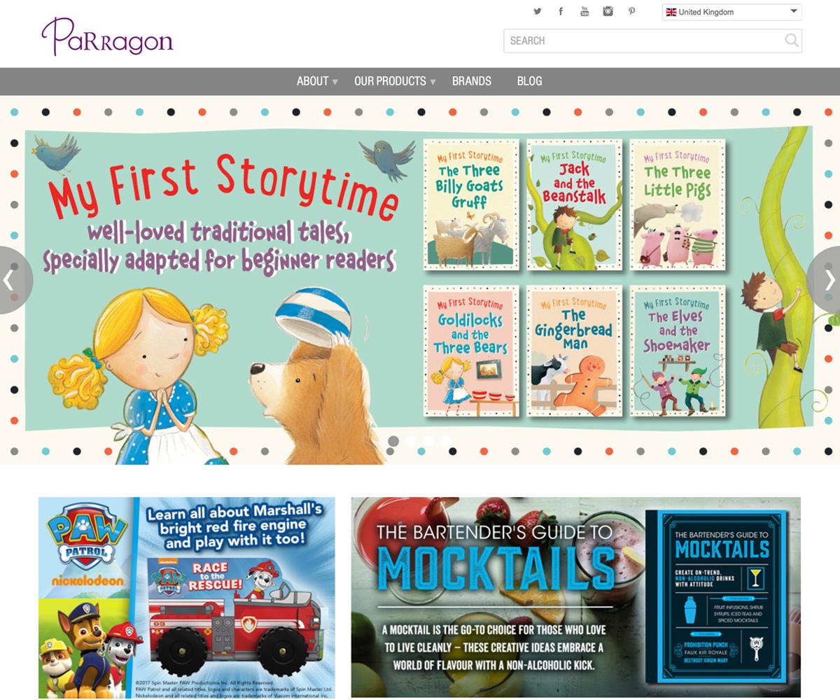 Parragon website build