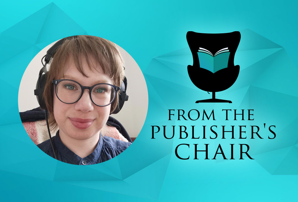 Emily Orford in the Publisher's Chair
