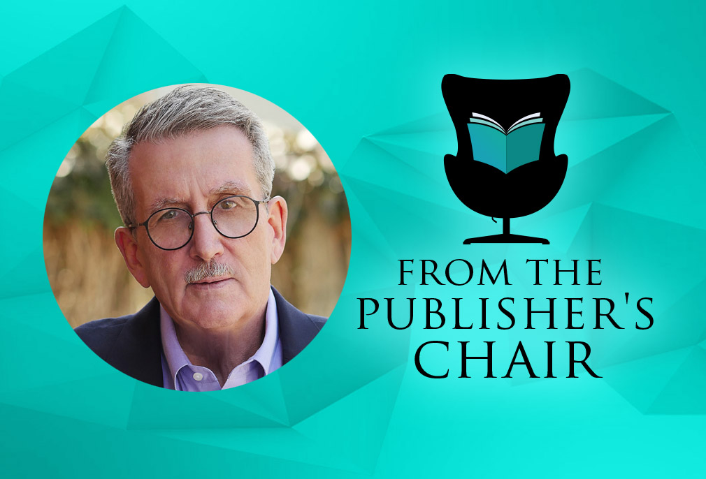 David Hetherington in the Publisher's Chair