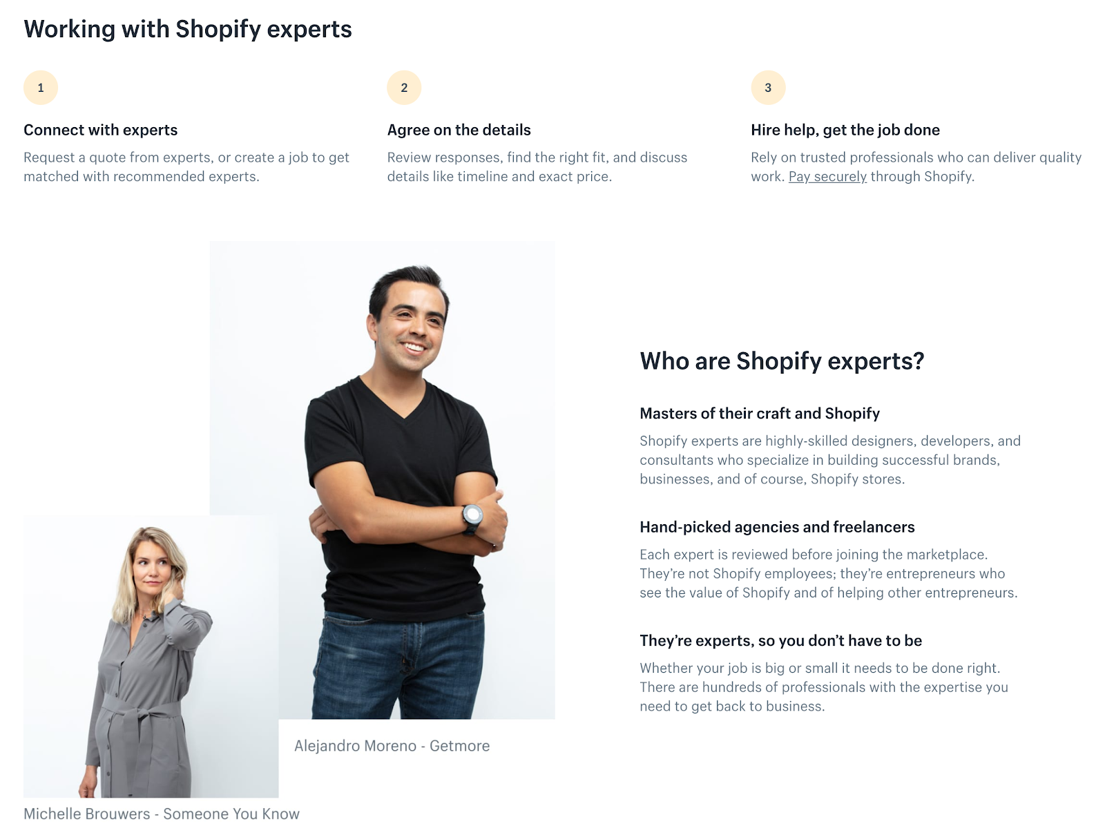 Shopifyエキスパートの仕事に関する公式ページ