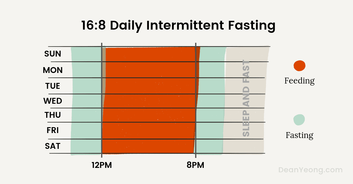 16:8 daily intermittent fasting schedule