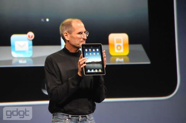 Steve Jobs in 2010 iPad keynote