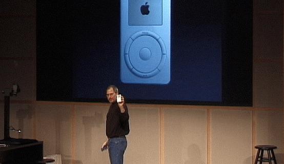 Steve Jobs in 2001 iPod keynote