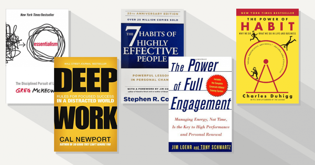 Best productivity books in psychology of productivity