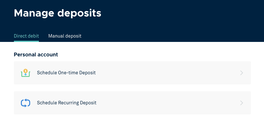 StashAway direct debit deposit