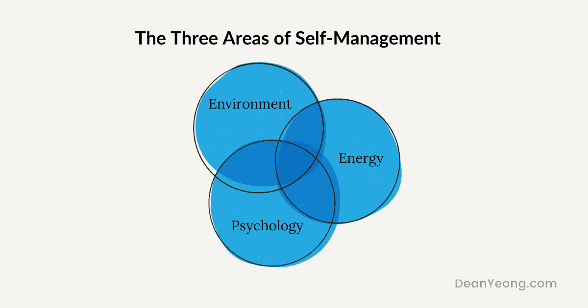 The 3 areas of self-management