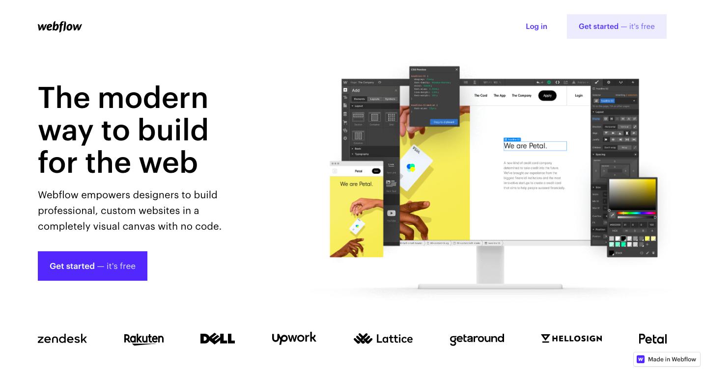 Webflow website builder