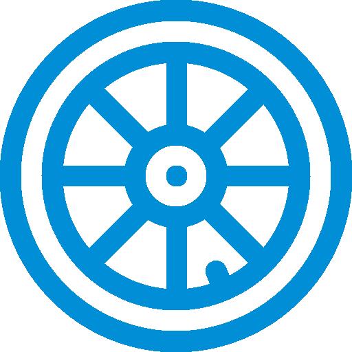 Icon mit Reifen als Symbol für die Kategorie Jobrad