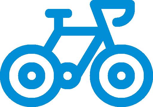 Icon mit Fahrrad als Symbol für den Verleih