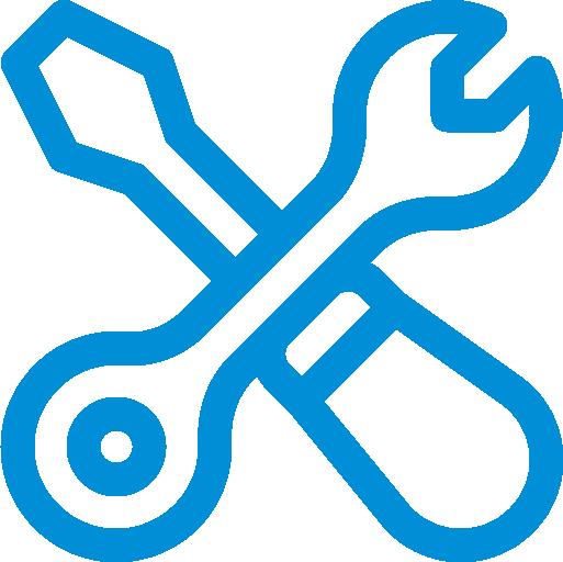 Icon mit gekreuztem Schraubenzieher und Zange