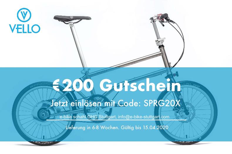 Vello Bike Aktion mit e-bike schahl