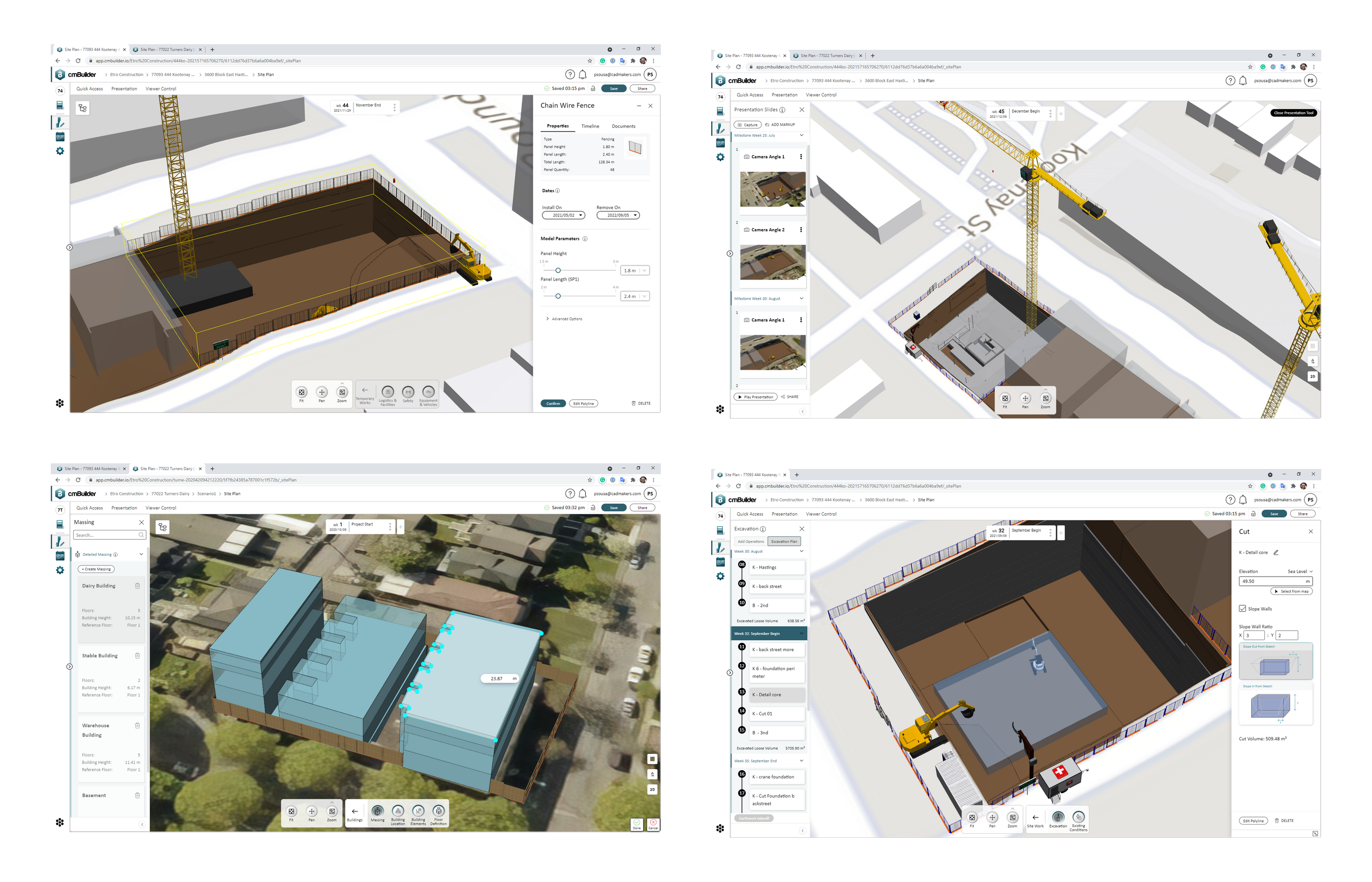 ETRO using cmBuilder.io as a one-stop tool in the workflow to plan from the pursuit phase through to construction