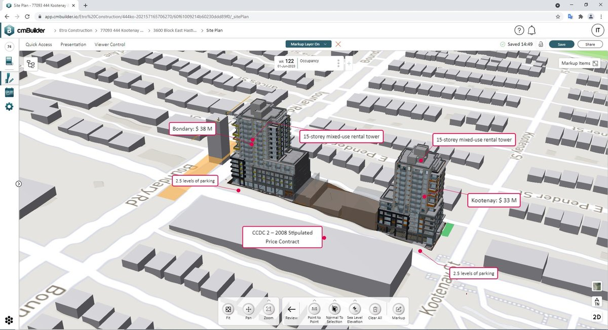 ETRO Constructions using Markups on their 4D site simulation for enhanced communication with stakeholders