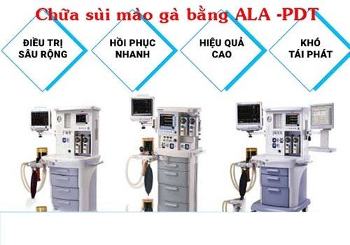 Chữa sùi mào gà bằng ALA-PDT bao nhiêu tiền? - Chuyên Khoa Ngoại Bắc Ninh