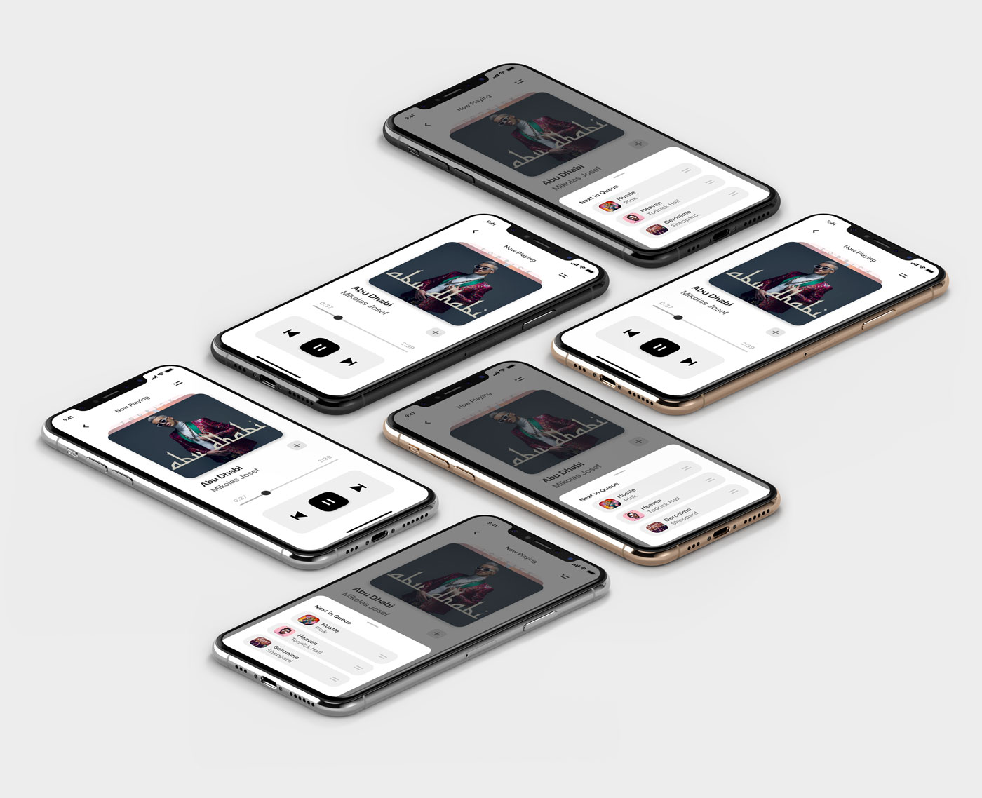Ukázka aplikace s hudebním přehrávačem.
