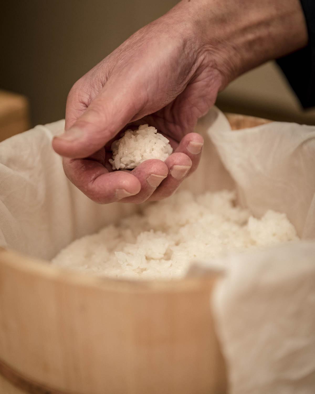 Chef préparant du riz