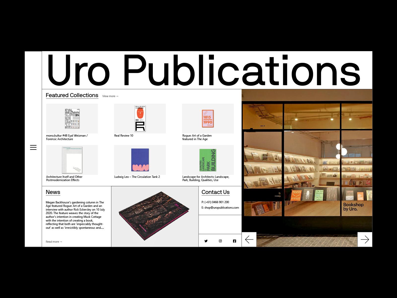 Uro Publications UI Design