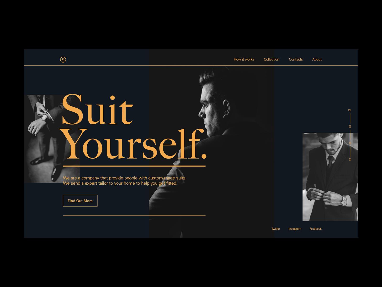 Suit Yourself UI Design