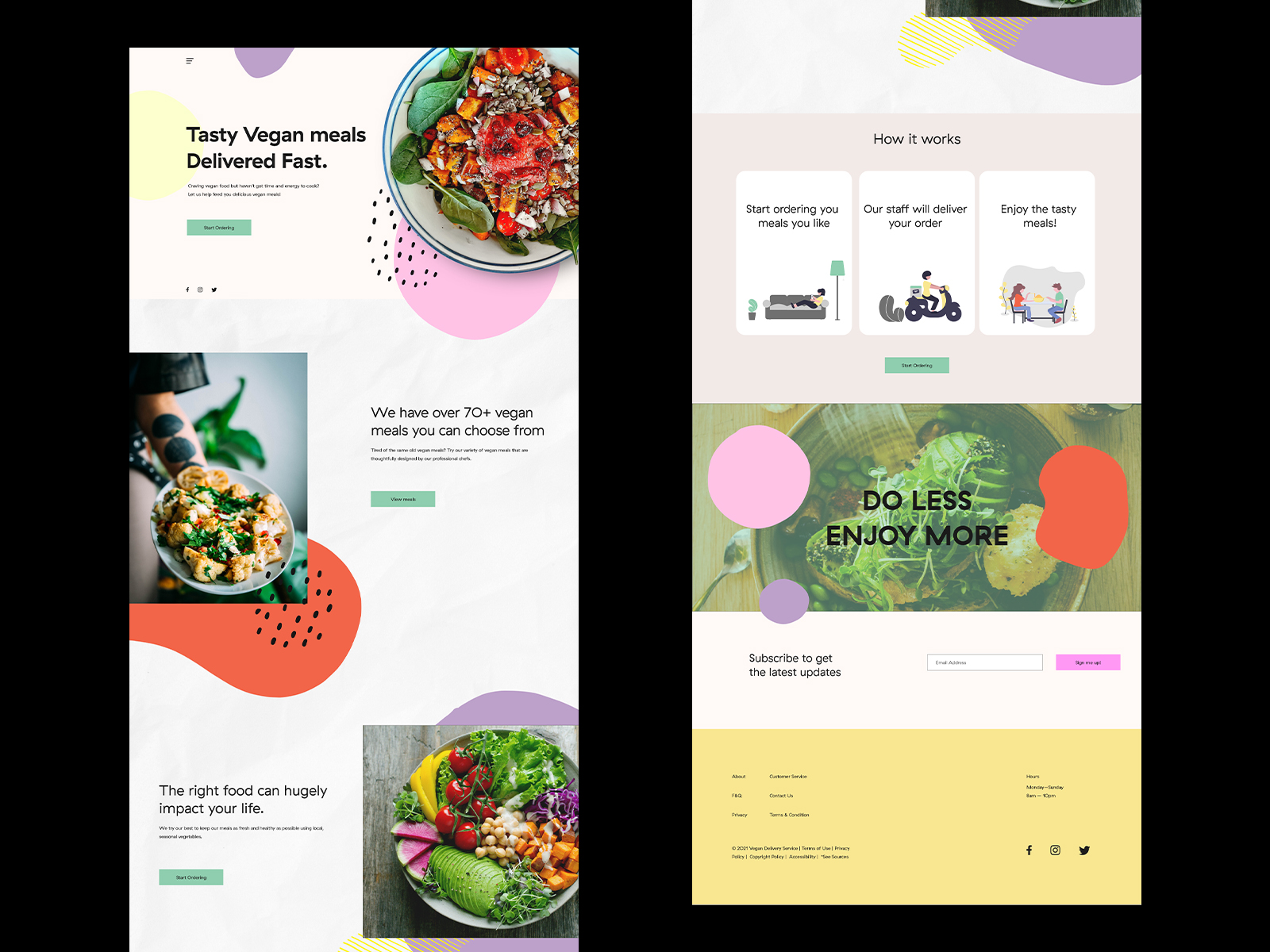 Vegan Food Delivery UI Design