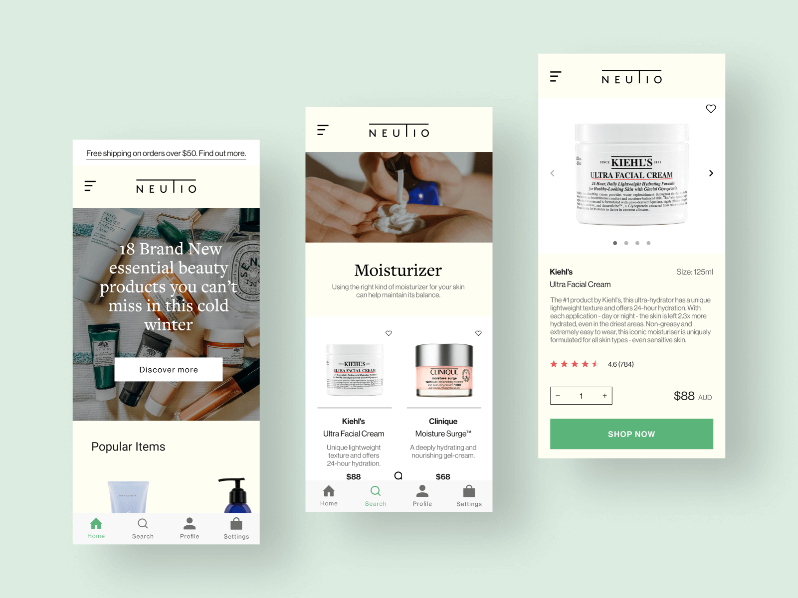 Cosmetic UI mobile