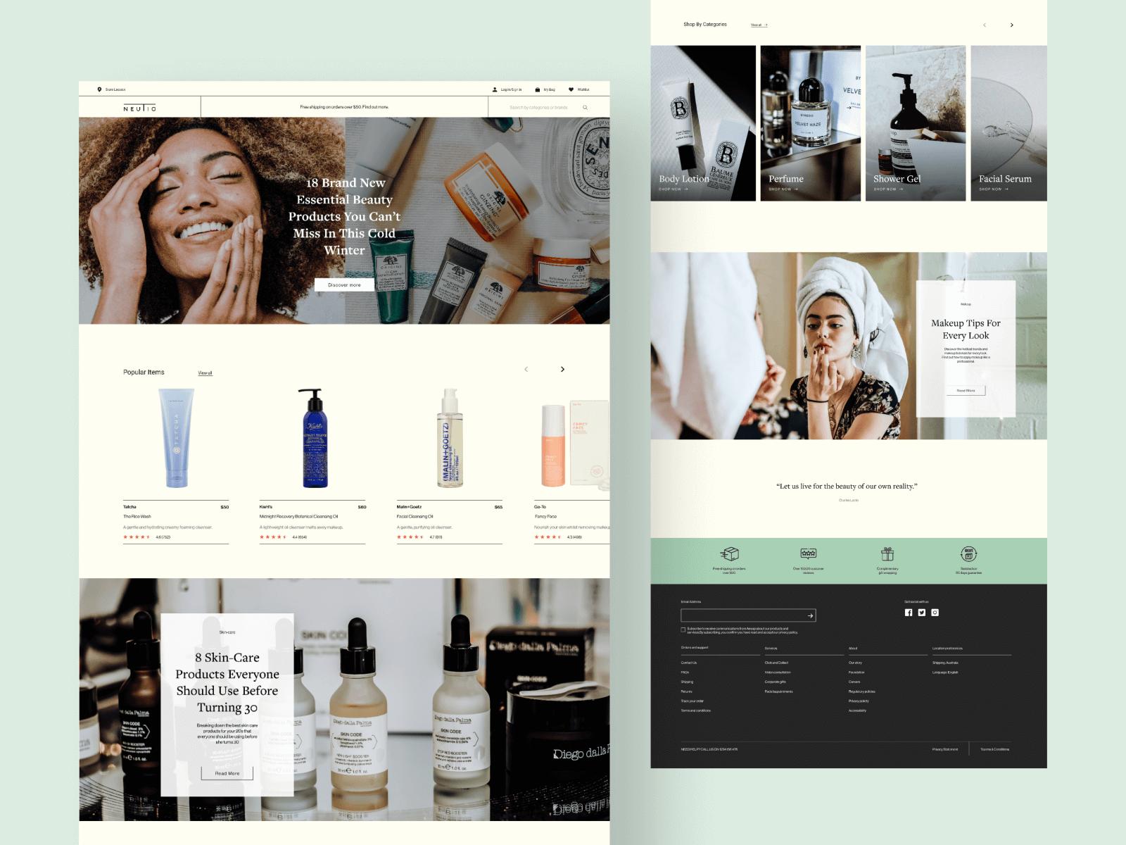 Cosmetic UI web