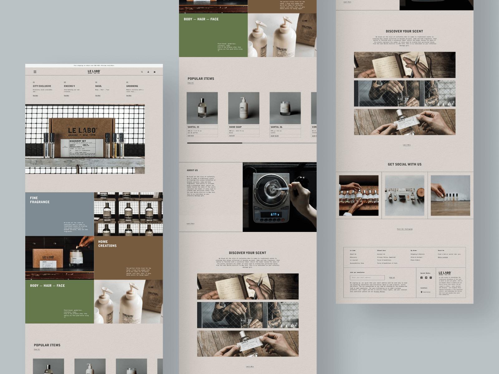 LE LABO UI design