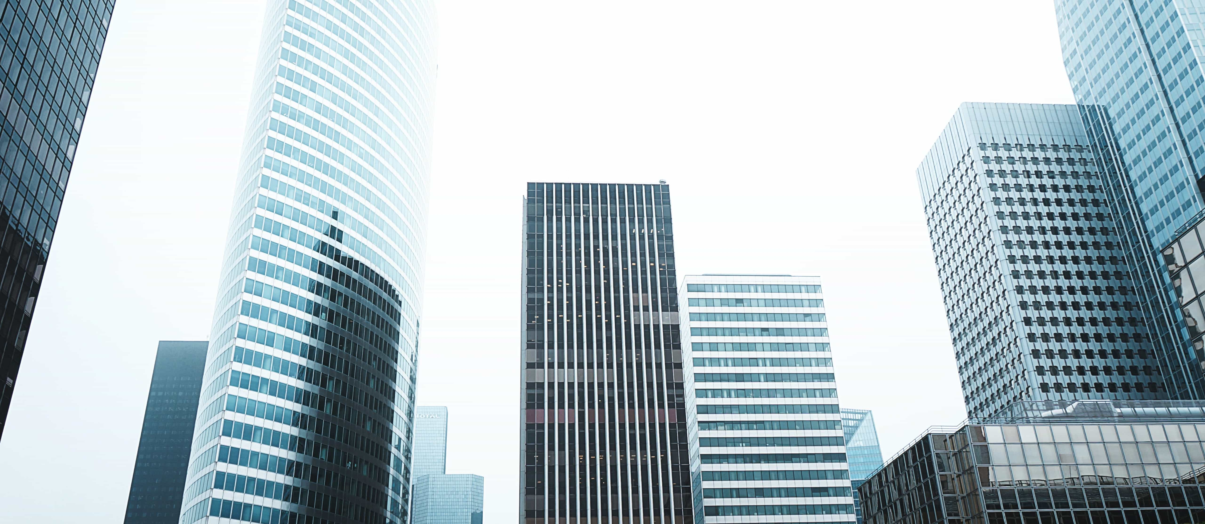 Skyscrapers in a city