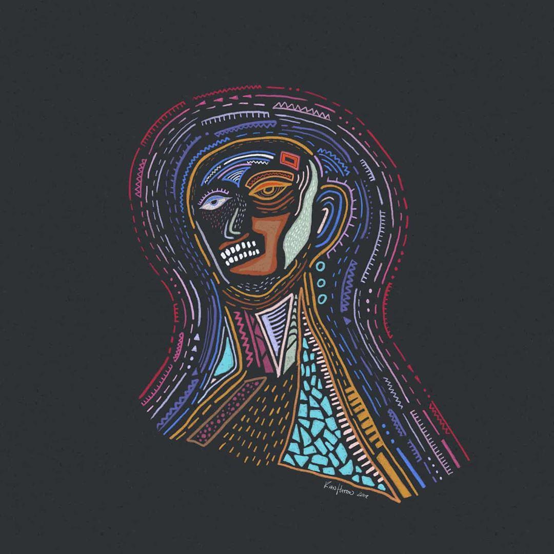 drawing of a man thinking