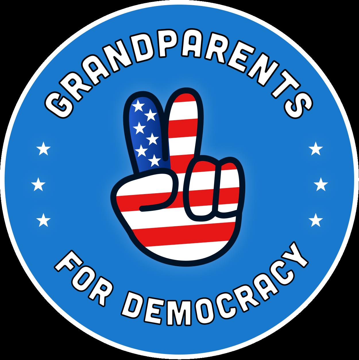 Grandparents For Democracy Circle Logo