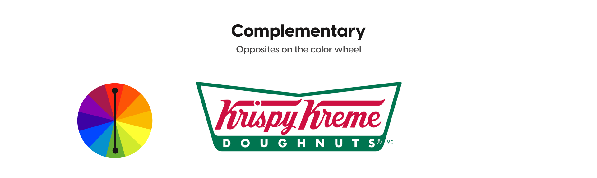 Example of complementary colors with Krispy Kreme