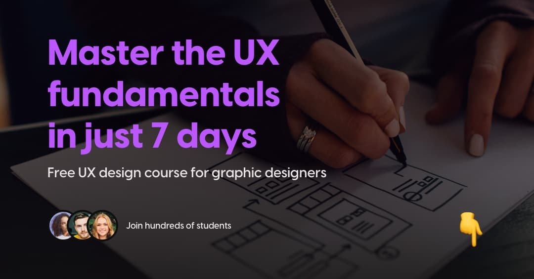 Picture for our free 7-day UX design course
