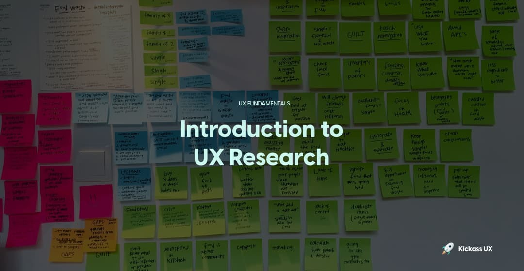 Introduction to UX research image