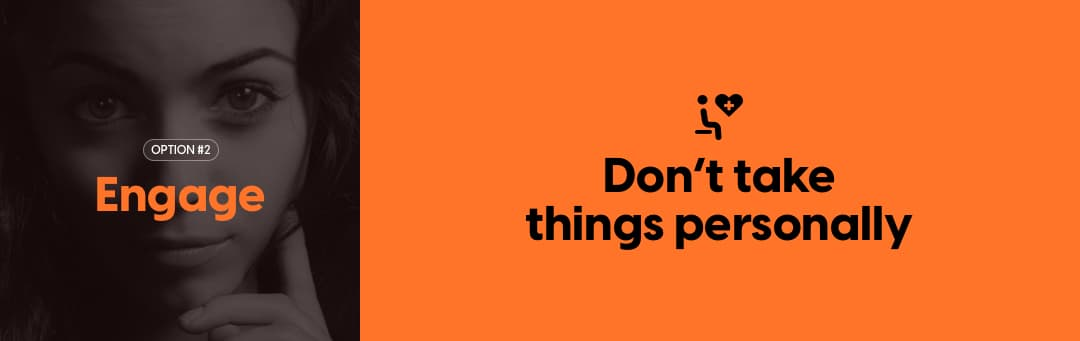 Vague: Don't take things personally