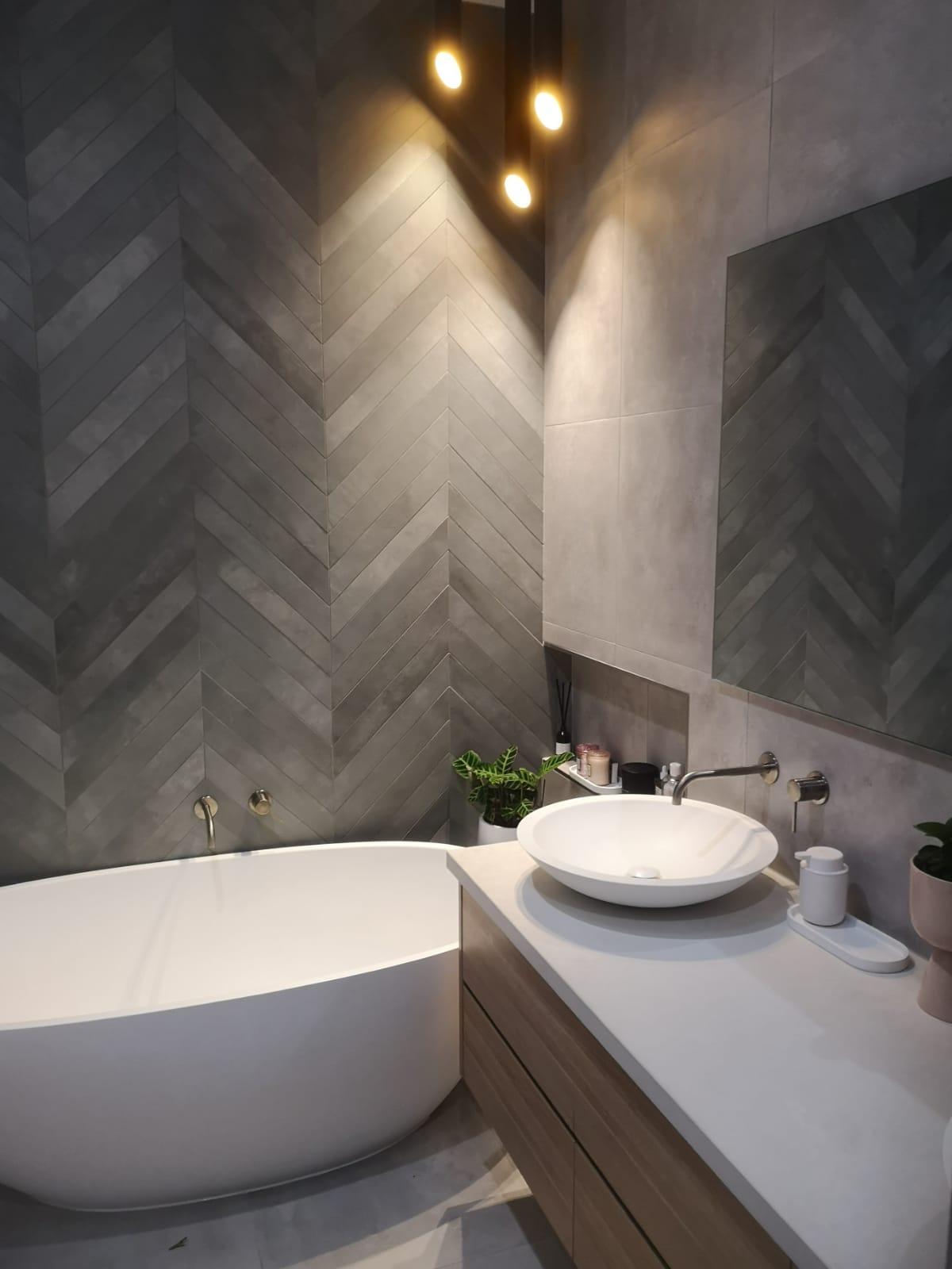ravine vanity with stone bath