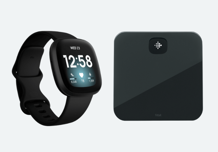 A smartwatch and scale.