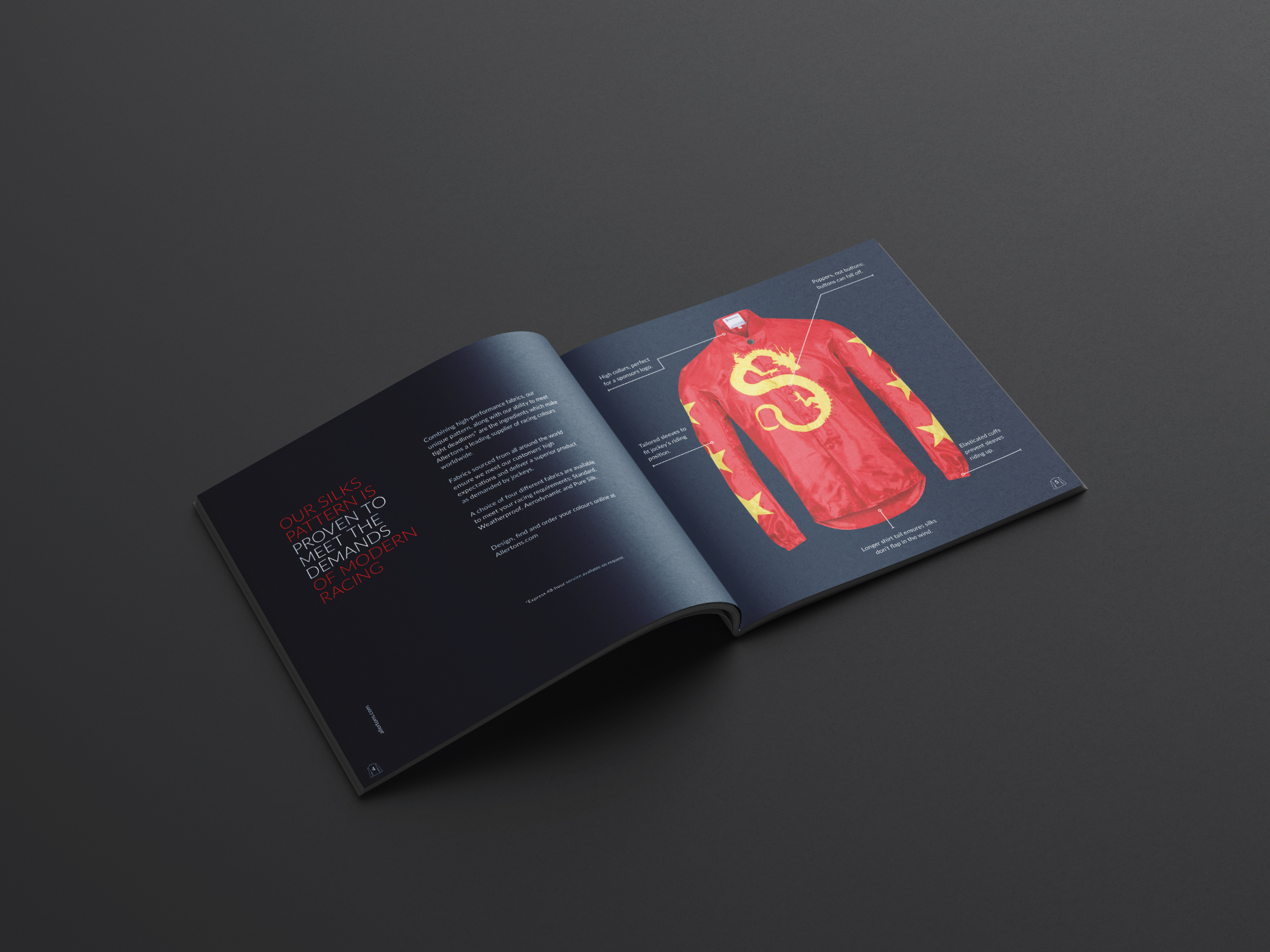Allertons racing brochure mock-up
