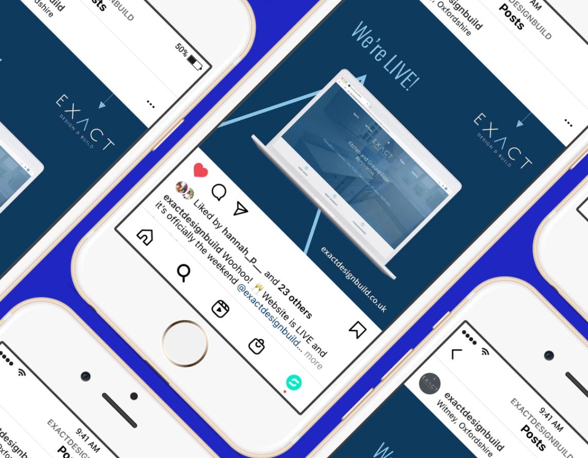 Exact design & build social media instagram banner.