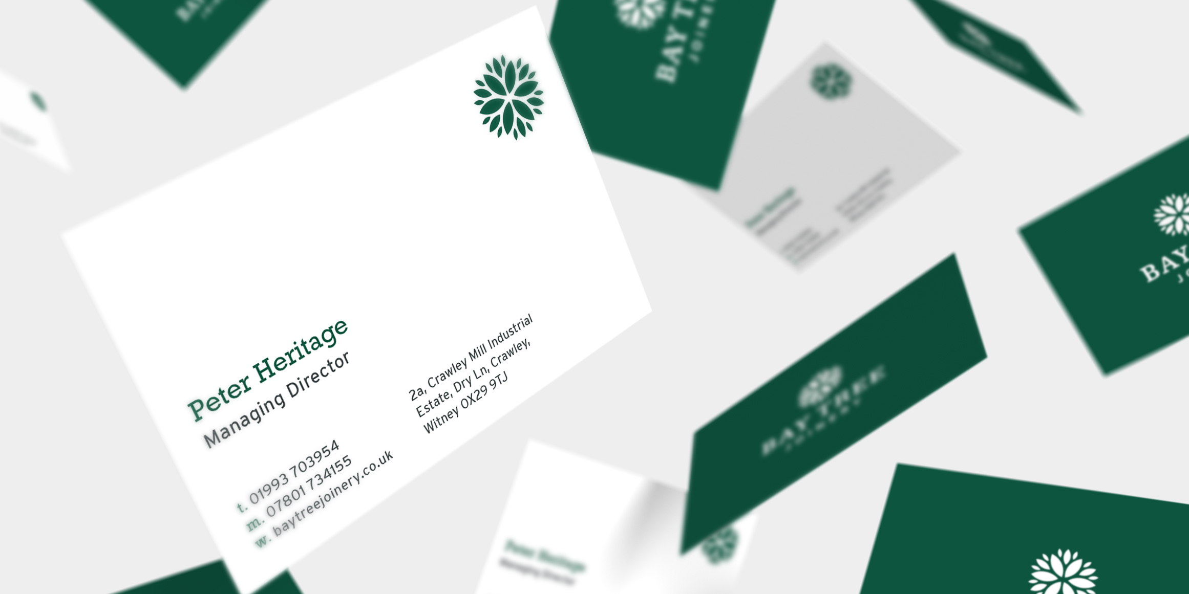 Baytree Joinery business card design