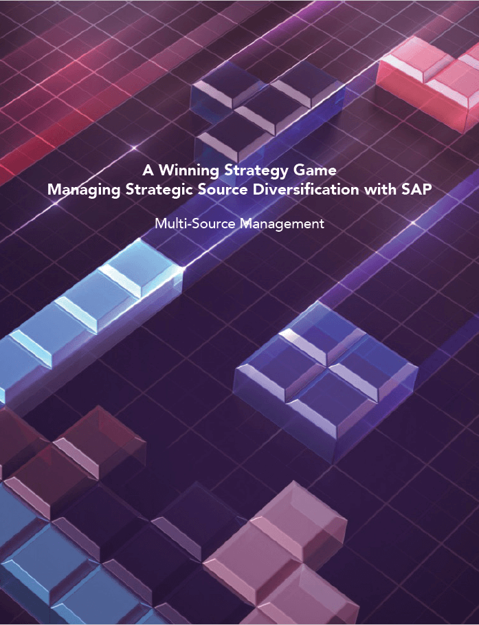 A Winning Strategy Game Managing Strategic Source Diversification with SAP