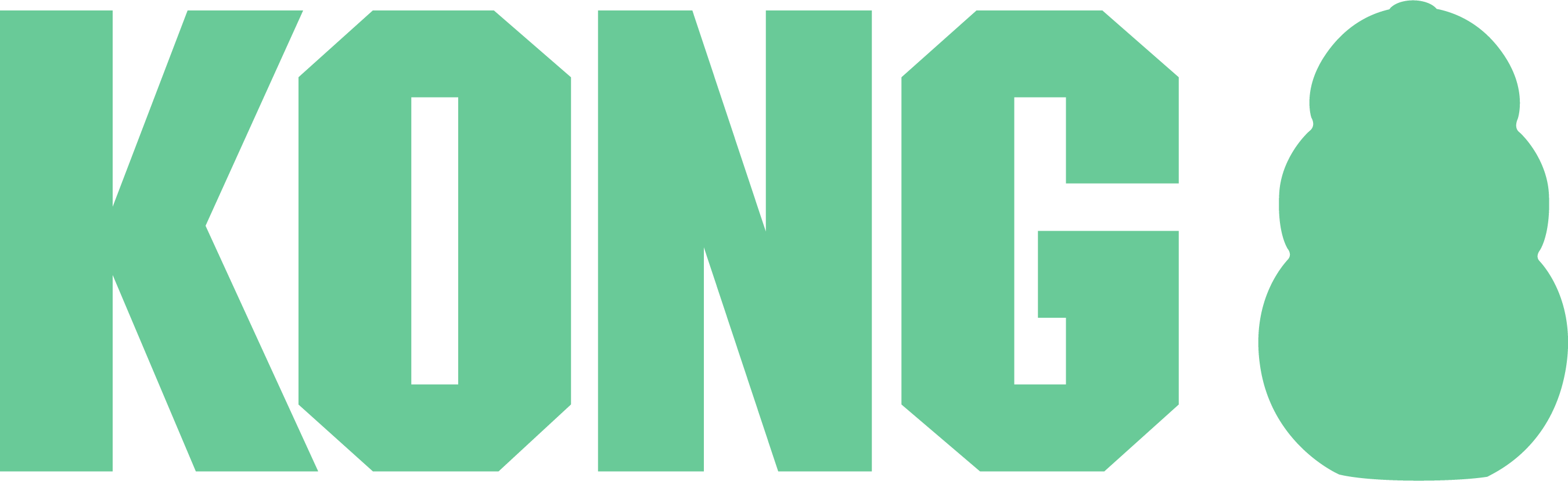 Kong logo in green