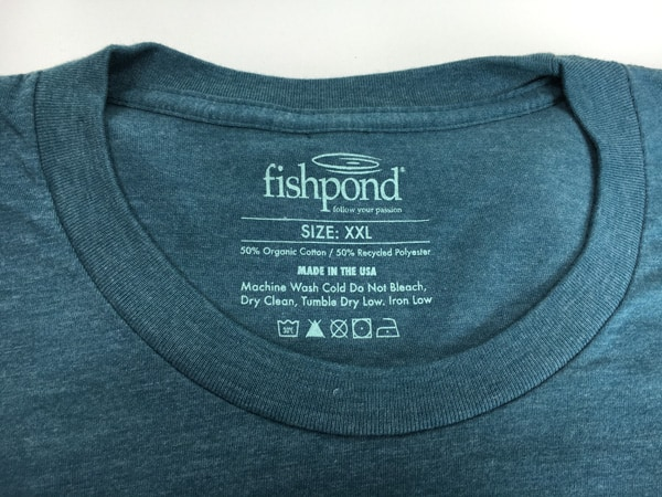Fishpond screen printed neck tag