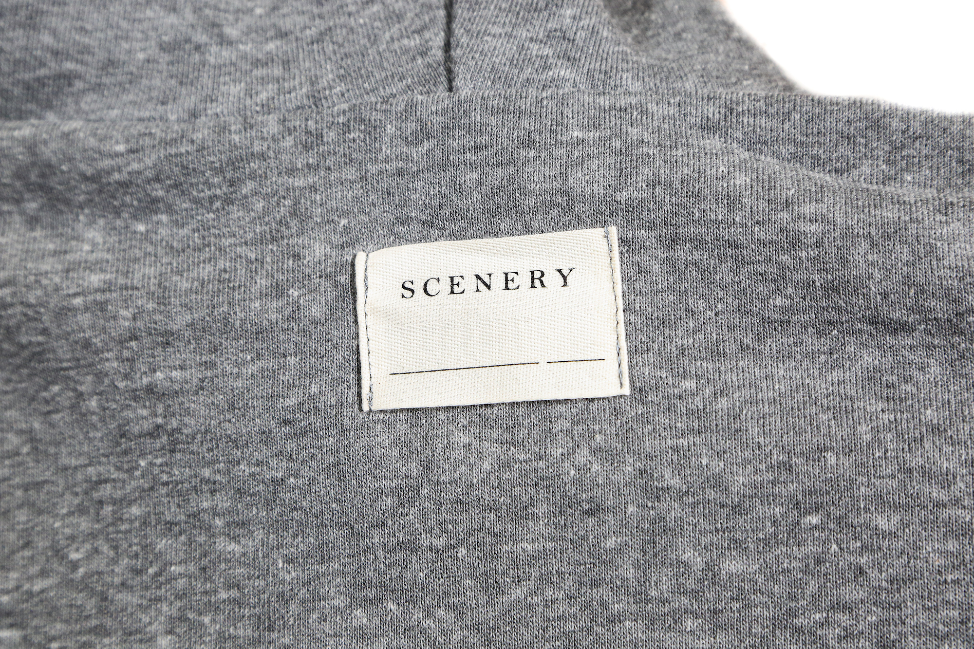 Scenery embroidered tag