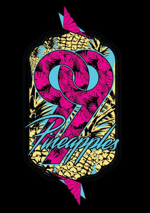 Pineapples graphic design